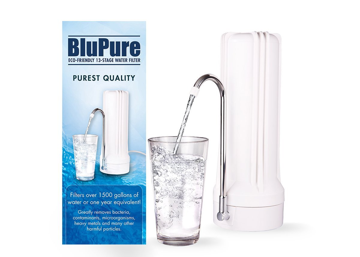 Blupure ecofriendly 13 stage countertop water filter