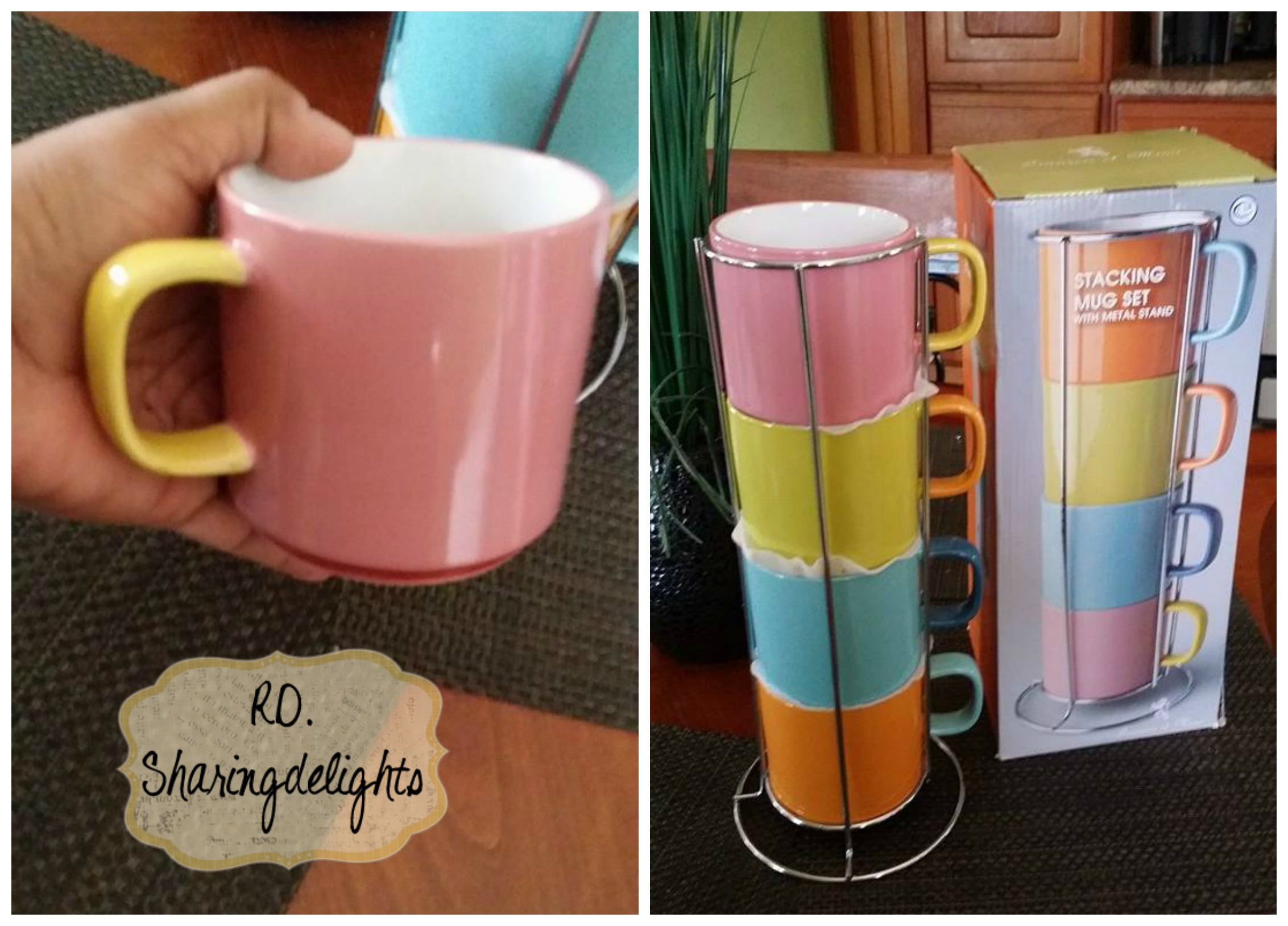 Top Francois et Mimi Stacking Mug Set with Rack Review | DF73